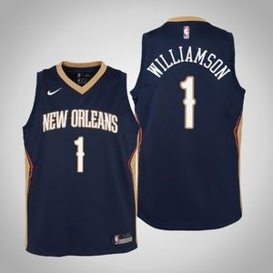 Youth Zion Williamson New Orleans Pelicans Jersey.